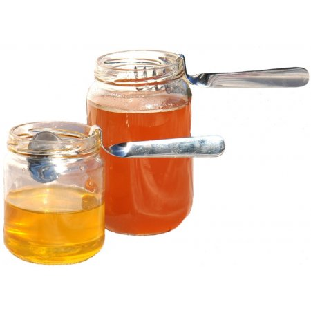 Set of 2 stainless steel spoons Honey