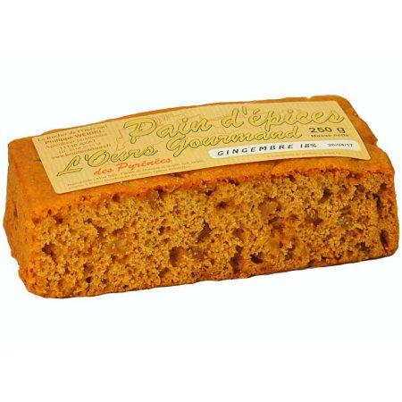 Pastís de mel amb gingebre confitat