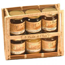 Raffia Carrying Case with 6 jars 125g