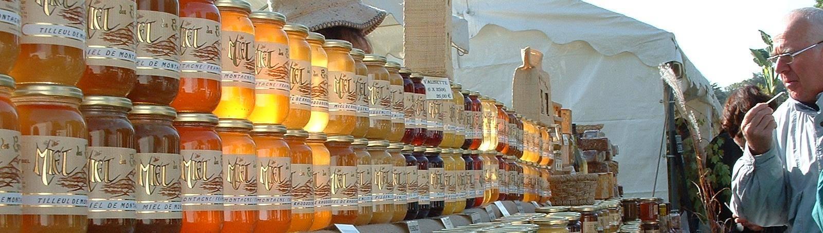 Stand de miel du Rucher de l'Ours